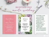Example Of Wedding Invitation with Reception Wording Reception Only Invitation Wording