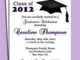Examples Of Graduation Invitations Wording Graduation Party or Announcement Invitation Printable or