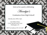 Examples Of Graduation Party Invitations Graduation Invitations Invitation Card for Graduation