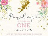 Fairy 1st Birthday Invitations 25 Best Ideas About Fairy Party Invitations On Pinterest