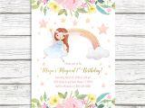 Fairy 1st Birthday Invitations Fairy Invitation Fairy Birthday Invitation Floral Fairy