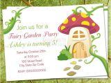 Fairy 1st Birthday Invitations Fairy Tea Party Birthday Invitation Mushroom Inviation