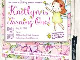 Fairy First Birthday Invitations Fairy Birthday Invitation Fairy themed Birthday Invitation