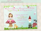 Fairy First Birthday Invitations Fairy Invitation Enchanted forest Fairy & Gnome Birthday