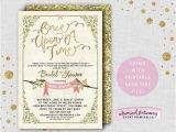 "Fairy Tale Bridal Shower Invitations Bridal Shower Invitation "" Ce Upon A Time"" Printable"