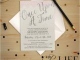 Fairy Tale Bridal Shower Invitations Silver Ce Upon A Time Fairy Tale Bridal Shower Invitation
