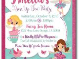 Fairy Tea Party Invitations Dress Up Fairy Tea Party Birthday Invitations Di 687