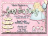 Fairy Tea Party Invitations Fairy Tea Party Birthday Party Invitation One Of A Kind