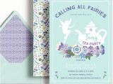 Fairy Tea Party Invitations Fairy Tea Party Invitation Fairies Girls Birthday Floral