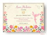 Fairy themed Birthday Invitation Fairy Birthday Invitation Fairy Birthday Party by