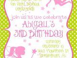 Fairy themed Birthday Invitation Wording Fairy Princess Birthday Party Invitation In by