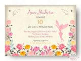 Fairytale themed Birthday Invitations Fairy Birthday Invitation Fairy Birthday Party by