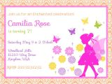 Fairytale themed Birthday Invitations Fairy Birthday Invitation