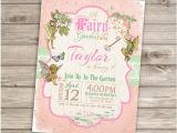 Fairytale themed Birthday Invitations Fairy Woodland Invitations Shabby Chic theme Party Girl Rustic
