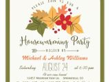 Fall Housewarming Party Invitations Elegant Fall Leaves Floral Housewarming Party Invitation
