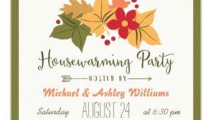 Fall Housewarming Party Invitations Elegant Fall Leaves Floral Housewarming Party Invitation