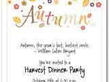 Fall Party Invites Autumn Season Invitations Fall Invitations
