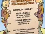 Fall Party Invites Harvest Party Invitation