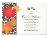 Fall themed Birthday Party Invitations Birthday Party Invitation Autumn Fall theme 5 Quot X 7