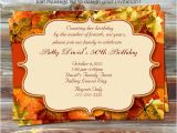 Fall themed Birthday Party Invitations Diy Printable Fall theme Birthday Invitation by Designsbydms