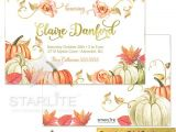 Fall themed Birthday Party Invitations Fall Birthday Invitation Fall themed Birthday Invitation