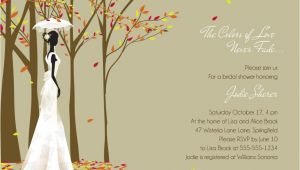 Fall themed Bridal Shower Invitations Autumn Vanilla Picture Autumn themed Bridal Shower