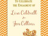 Fall themed Engagement Party Invitations Engagement Party Invitation Autumn themed Engagement