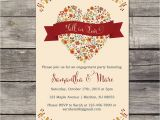 Fall themed Engagement Party Invitations Fall Engagement Party Invitations Invitation Librarry