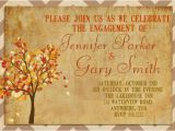 Fall themed Engagement Party Invitations Items Similar to Engagement Party Invitation Autumn