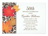 Fall themed Party Invitations Birthday Party Invitation Autumn Fall theme Zazzle