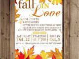 Fall themed Party Invitations Fall Engagement Party Invitations Oxsvitation Com