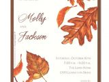Fall themed Party Invitations Fall Invitations
