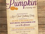 Fall themed Party Invitations Little Pumpkin Birthday Invitation Fall Birthday Party
