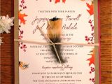 Fall themed Wedding Invitations Cheap Beautiful Fall Wedding Invitations with orange Burst
