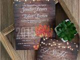 Fall themed Wedding Invitations Cheap Cheap Rustic Wooden String Light Mason Jar Fall Wedding