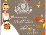 Fall themed Wedding Shower Invitations Autumn Romance Bridal Shower Invitations Paperstyle