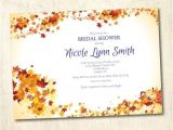 Fall themed Wedding Shower Invitations Bridal Shower Invitation Autumn Fall theme Shower