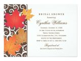 Fall themed Wedding Shower Invitations Bridal Shower Invitation Autumn Fall theme Zazzle