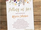 Fall themed Wedding Shower Invitations Fall Bridal Shower Invitation Autumn Bridal Shower Flowers