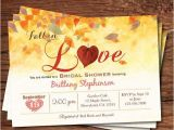 Fall themed Wedding Shower Invitations Fall Bridal Shower Invitation Fall In Love Bridal Shower