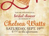 Fall themed Wedding Shower Invitations Fall In Love Bridal Shower Invitation by