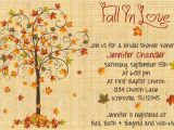 Fall themed Wedding Shower Invitations Fall In Love Bridal Shower Invitation by Whateveris On Etsy
