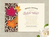 Fall themed Wedding Shower Invitations Fall Leaves theme Wedding Bridal Shower Invitations by