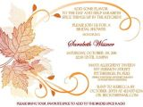 Fall themed Wedding Shower Invitations Fall themed Bridal Shower Invitation