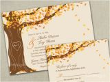 Fall Wedding Invitations and Rsvp Cards Autumn Fall Tree Wedding Invitation Invitations by