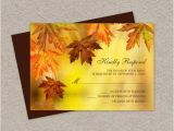Fall Wedding Invitations and Rsvp Cards Diy Fall Wedding Rsvp Cards with Falling Leaves Fall Leaves