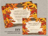 Fall Wedding Invitations and Rsvp Cards Diy Printable Fall Wedding Invitations and Rsvp Cards with