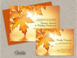 Fall Wedding Invitations and Rsvp Cards Fall Wedding Invitations and Rsvp Cards Diy Printable Wedding
