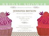 Fancy Bridal Shower Invitations Fancy Cupcake Bridal Shower Invitation