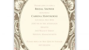 Fancy Bridal Shower Invitations Fancy Frame Petite Bridal Shower Invitation